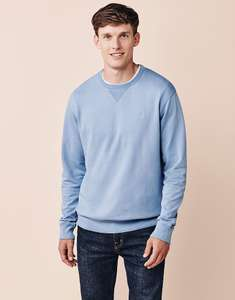 Men's Leadon Washed Sweatshirt £12.10 with code at Crew Clothing - free Click & Collect / £3.95 delivery but free over £50