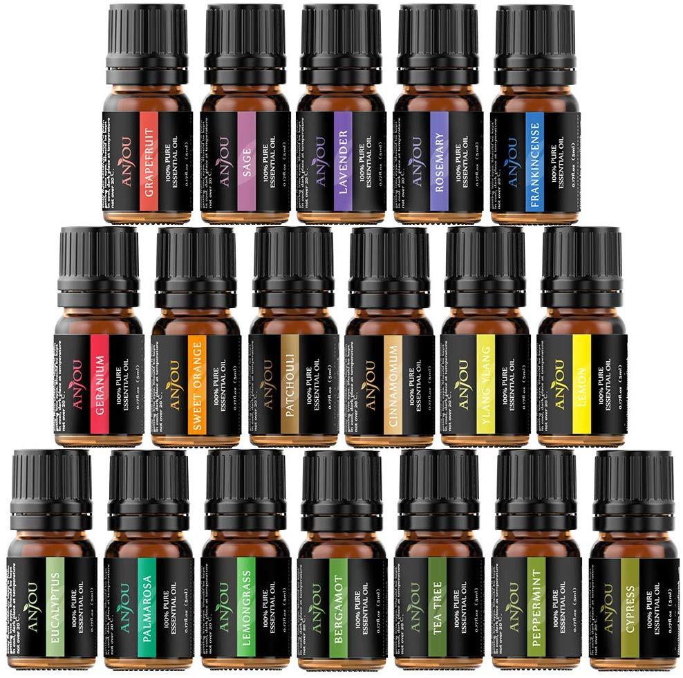 Anjou Essential Oils Set (18 x 5mL Oils) £9.99 with Prime / £14.49 non Prime @ Amazon / Sunvalleytek-UK