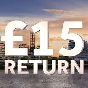 £15 Standard Class Return journey to London (Account Specific) OR £30 First Class @ EMR
