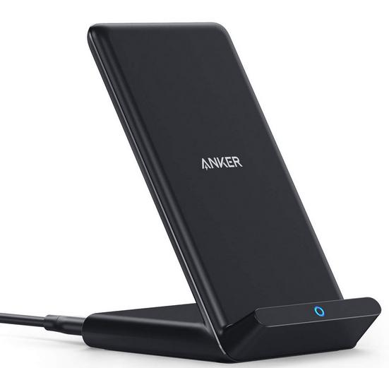 Anker 10W Fast Wireless Charging Stand, Qi-Certified, Wireless Charger - £13.99 Prime /£18.48 Non Prime @ Sold by AnkerDirect(FBA)