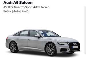 Audi A6 Saloon 45 TFSI Quattro Sport 4dr S Tronic lease £9080.64 at Lease4Less