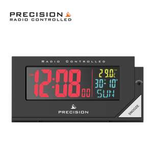 Precision Radio Controlled Colour Display Alarm Clock now £13.19 free click and collect at Argos