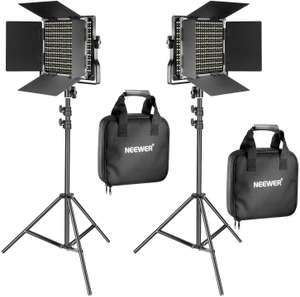Neewer 2 Pieces Bi-color 660 LED Video Light and Stand Kit £98.52 Sold by Nashes Camspace and Fulfilled by Amazon