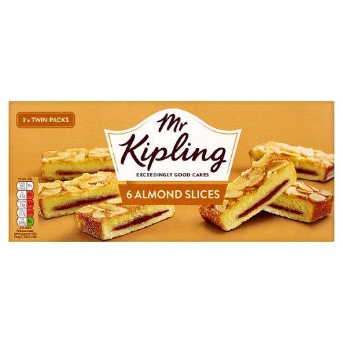 2 x 6 pack, Mr Kipling Almond Slices. £1 Heron Foods.