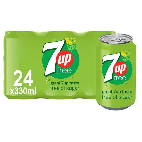 7Up Free 330Ml x 24 Pack - £6 at Tesco