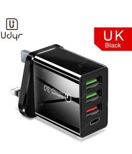 Udyr Quick Charge 3.0 Type-C Multi USB Charger plus 18W PD Charger For iPhone Samsung iPad Pro Macbook £3.77 Gearbest