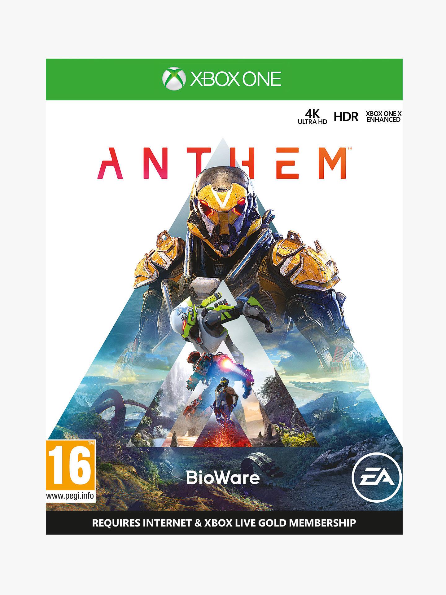 Anthem xBox One £3.49 at John Lewis & Partners