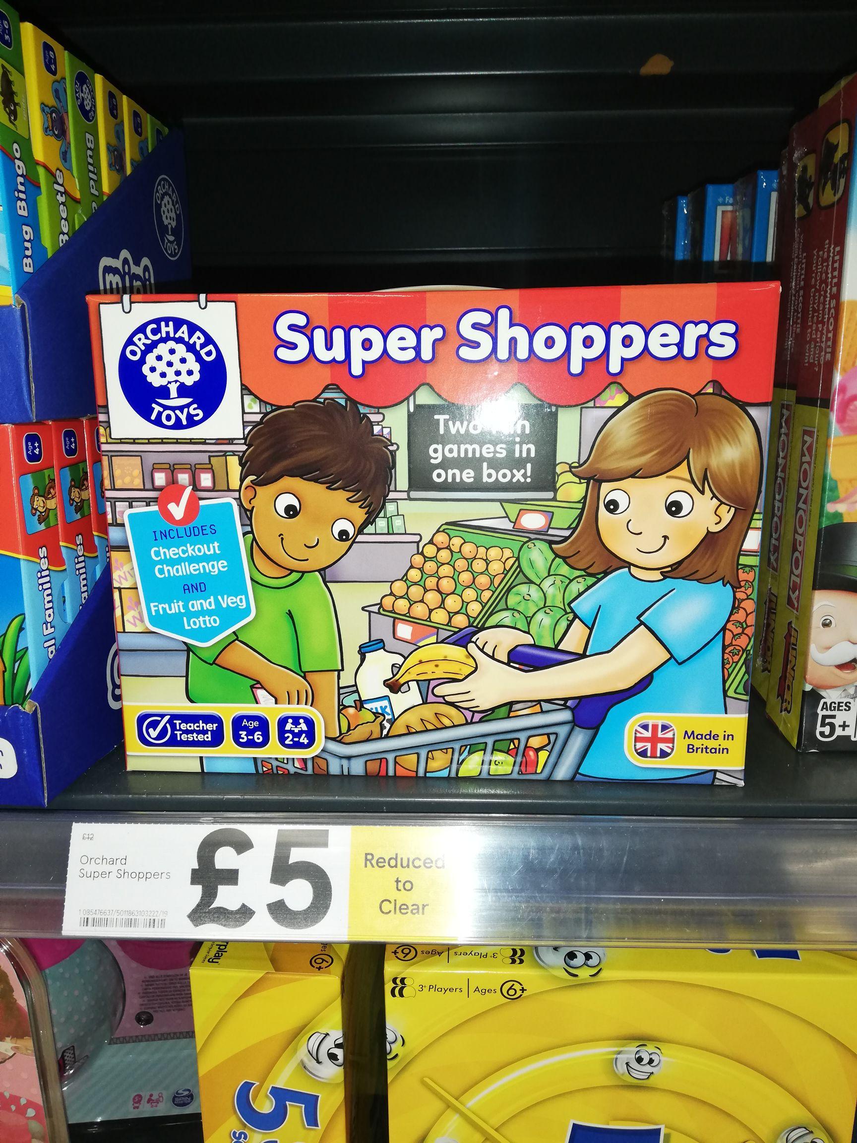 Super Shoppers Children's Board Game £5 instore @ Tesco (Toton)