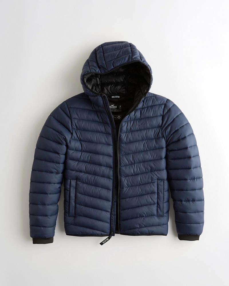 Lightweight Hooded Puffer Jacket £27.60 (Select Colours) @ Hollister