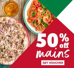 50% off Main Meals at Frankie and Benny's