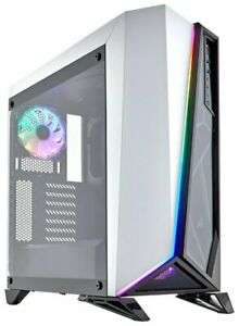 CORSAIR Carbide Series SPEC-OMEGA RGB Mid-Tower Tempered Glass Gaming Case White £57.16 (using code) @ Ebuyer / Ebay