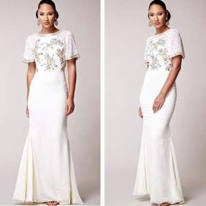 Virgos Lounge Ivory Desiree Embellished Wedding Maxi Gown Dress £53.99 delivered with code @ eBay / celebrity_fashion_store