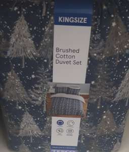 Tesco Winter Trees Brushed Cotton King Size Duvet Cover & Pillowcases £6.25