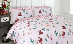 Christmas/Winter Duvet covers from £3.98 Delivered @ Groupon