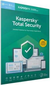 Kaspersky Total Security 2020 | 10 Devices | 1 Year £16.99 Prime / £19.98 Non Prime at Amazon