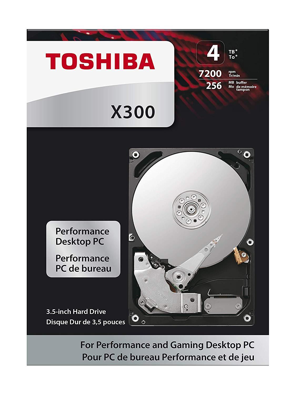 "Toshiba X300 4TB 7200RPM 128MB 3.5"" SATA HDD (HDWE140EZSTA) £87.57 @ Amazon"