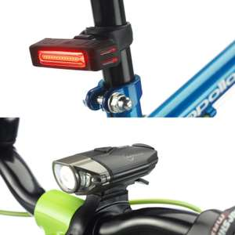 Auraglow USB Rechargeable Front & Rear Bike Light Set £14.99 at Auraglow