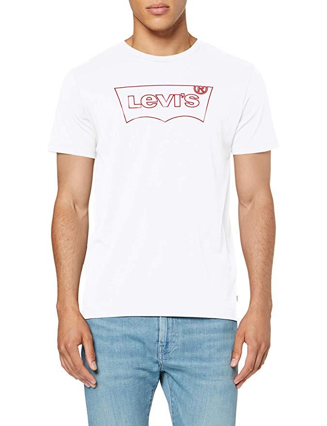 Levi's Men's Housemark Graphic Tee T-Shirt, White (Hm Outline White 0240), X-Large £9.99 (+£4.49 Non Prime) @ Amazon