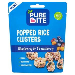 Pure Bite Popped Rice Clusters Blueberry & Cranberry 20g £1 @ Morrisons