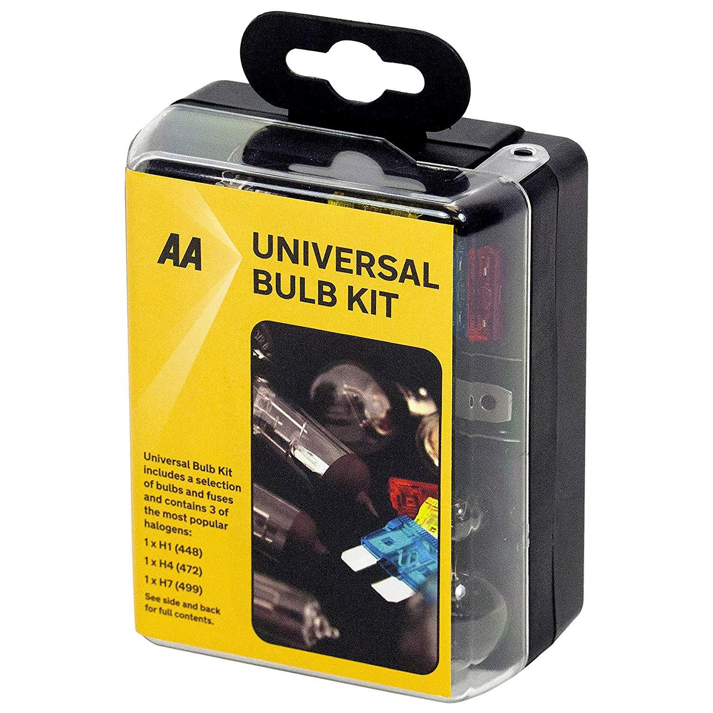 AA Compact Universal Bulb Kit, inc H1, H4 and H7 bulbs - Bl - £2.50 + £4.49 Non Prime @ Amazon