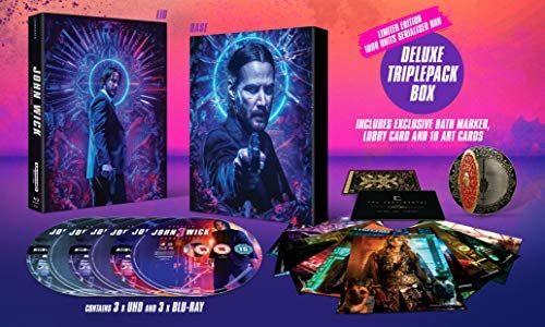 John Wick 1/2/3 deluxe triple boxset 4k/blu ray £42.31@ Amazon/ blood oath marker/plastic Lobby card/10 art cards