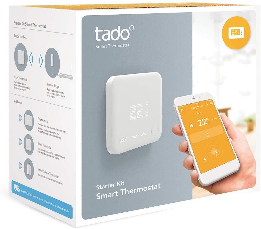 TADO SMART THERMOSTAT STARTER KIT V3 - No subscription needed £109.99 @ box