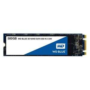 WD Blue (500GB) 3D NAND SATA III 6Gb/s M.2 Solid State Drive (Internal) *Open £48.53 ebay / cclcomputers