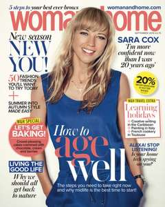 Woman & Home print edition 6 months for £6 at Magazines Direct - plus QUIDCO £5 cashback