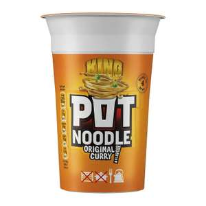 Pot Noodle King Original Curry Flavour 114 g (Pack of 12) - £8.40 Prime / +£4.49 non Prime @ Amazon - 70p each or less on subscribe and save