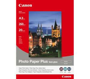 CANON SG-201 A3 Semi-Gloss Photo Paper - 20 Sheets £19.97 @ Currys
