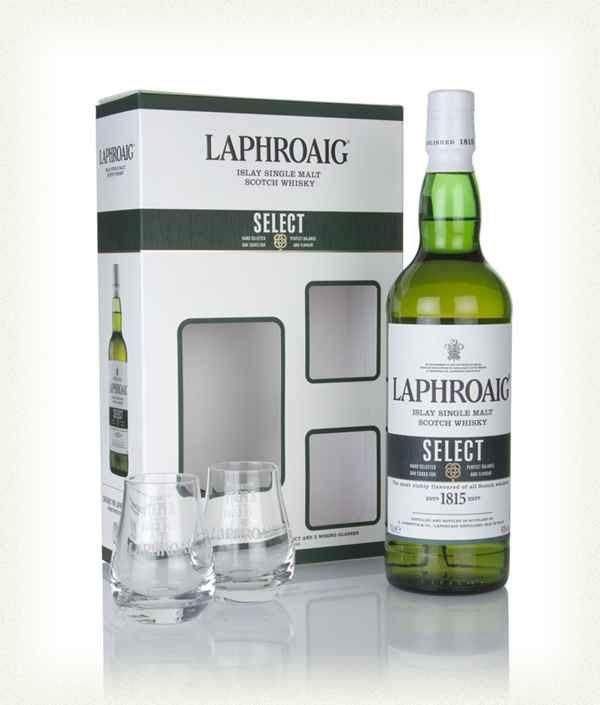 Laphroaig Select Whisky gift set (70cl + 2 glasses) £23 instore at Morrisons