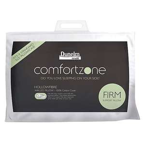 Comfortzone Hollowfibre Firm Support Walled Pillow £9.60 instore and online Dunelm Free C&C