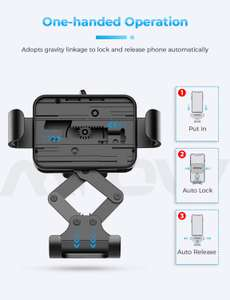 """Mpow Car Phone Mount - Gravity Car Phone Holder Mount for Smartphones under 6.8"""" £6.07 / £10.56 np Sold by SJH EU LTD & FB Amazon."""