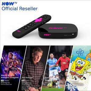 Now TV Smart Box with 4K & Voice Search + 4 Now TV passes - £24.85 @ Boss Deals / Fulfilled by Amazon