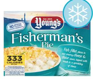 Young's Fishermen's (and Admiral's) Pie 85p @ Tesco