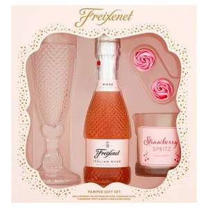 Freixenet Pamper Gift Set (200ml sparkling rose, champagne Flute glass, candle and bath roses) now £2.50 @ Tesco West Durrington