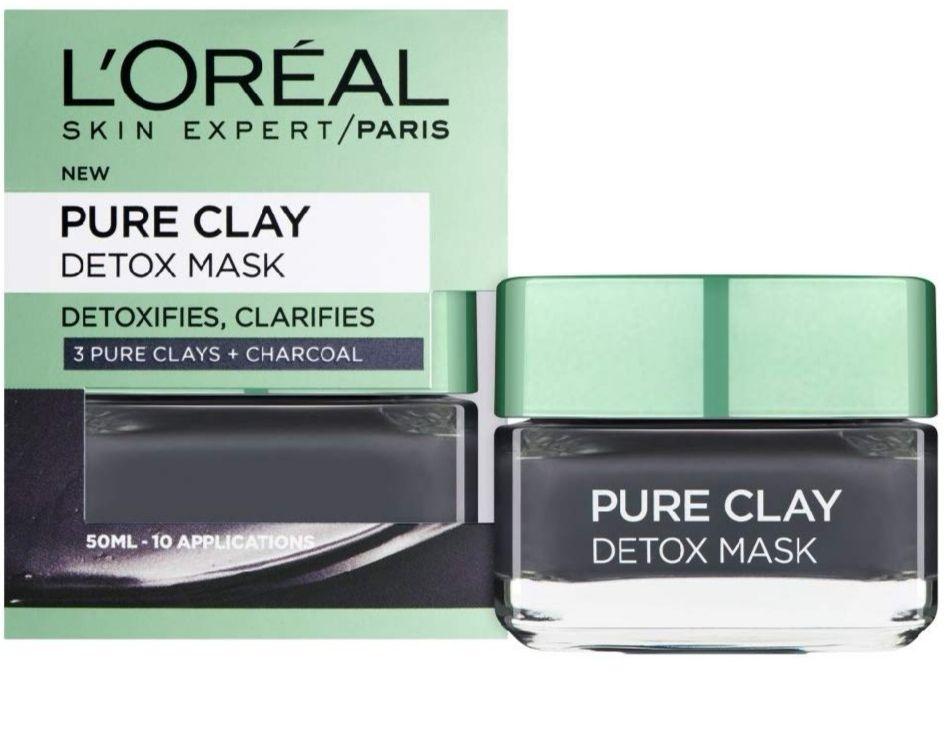 L'Oreal Paris, Face Mask, Pure Clay Charcoal Detox Clay Mask £5.29 Prime / £9.78 Non Prime @ Amazon