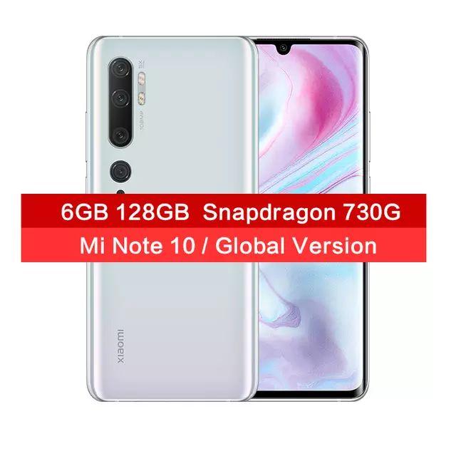 Xiaomi Mi Note 10 6GB 128GB 108MP Camera Mobile phone + Either Redmi Airdots Or Lifesense Band £331 @ MC Global Store/Aliexpress