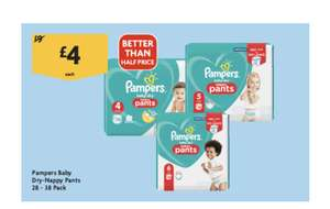 Pampers Baby-Dry Nappy Pants £4 @ Morrisons
