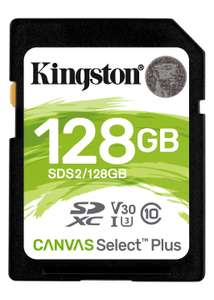 Kingston Canvas Select Plus 128GB SDXC SD Card (Class 10 UHS-I speeds up to 100 MB/s*) £12.99 Delivered @ Base