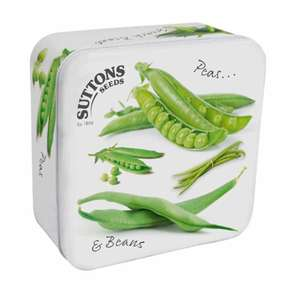 Pea and Bean Seed Tin £4.99 @ Sutton Seeds