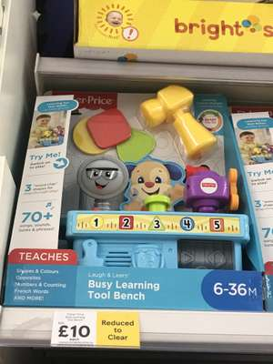 Fisher price busy learning tool bench - £10 instore - Tesco Fleets Bridge Poole