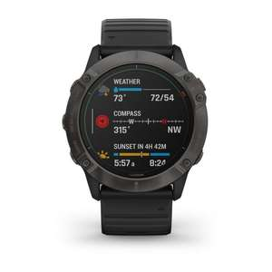 Garmin Watch Fenix 6X Pro Solar Carbon Gray DLC £721.65 @ Jura Watches