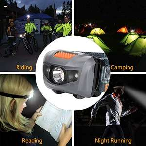 Linkax LED Headlamp Headlight 120 Lumens LED 4 Modes Helmet 3 x AAA Batteries included £5.09 + £4.49 NP Sold by WJRX and Fulfilled by Amazon