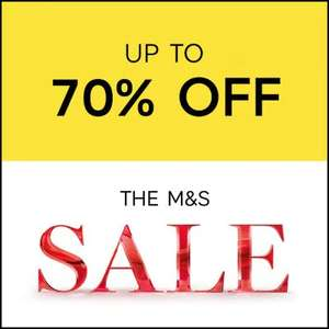 Upto 70% off M&S sale online & instore - eg Egyptian cotton towel bale now £14.99 was £50 see OP for more info