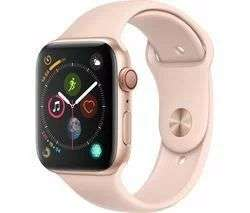 APPLE Watch Series 4 Cellular - Pink & Black Band, 44 mm £319 | 40mm £299 @ Currys PC World
