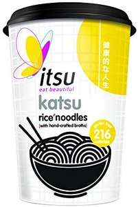itsu Katsu Instant Noodles Cup (Pack of 6) now £6 (Prime) + £4.49 (non Prime) at Amazon