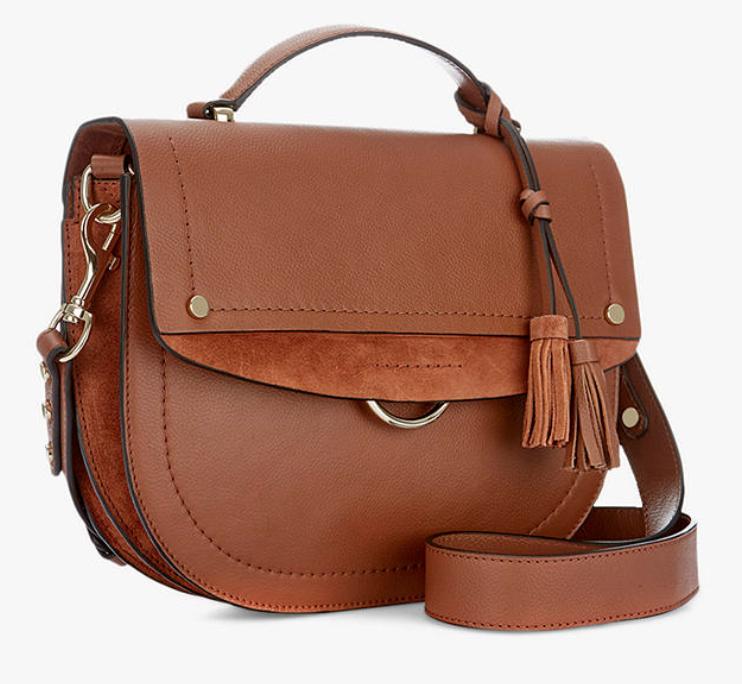 Mint Velvet Bailey Leather Shoulder Bag, Tan - £53.10 delivered @ John Lewis & Partners