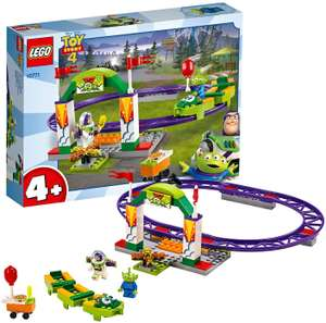 LEGO 10771 4+ Toy Story 4 Carnival Thrill Coaster now £10 (Prime) + £4.49 (non Prime) at Amazon