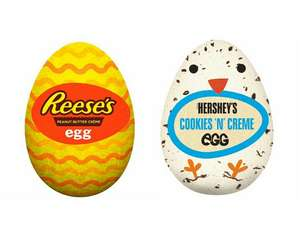Reese's Peanut Butter Creme Egg 34G / Hershey's Cookies & Creme Egg 34G 3 For £1 @ Tesco